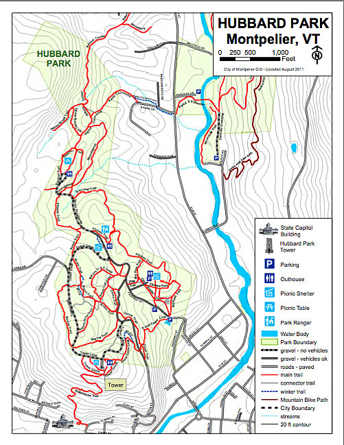 The park is extensive and hooks up with trails at the North Branch Nature Center and other city land.