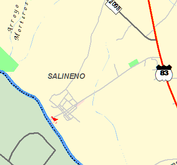Salineño is just north of Roma on Route 83.