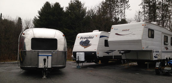 Our placid Airstream was hanging out with Prowlers, Conquests, Avengers ...