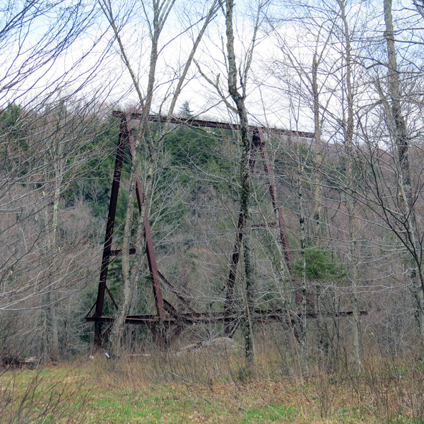 This photo does not reflect the size of this large structure -- it is very large -- and rusting away.
