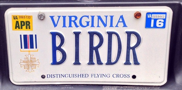 The owner of this plate was a former Vietnam era chopper pilot so besides birding, we had some things in common.