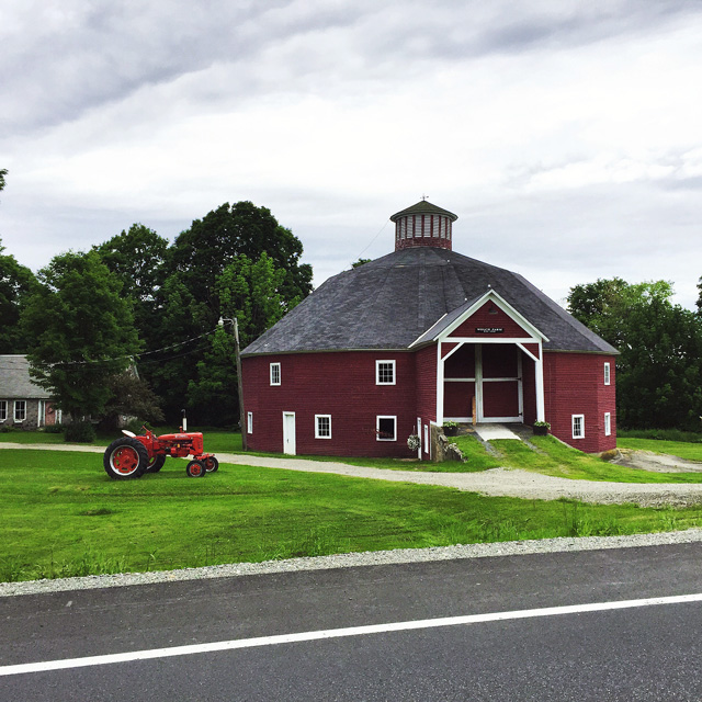 The barn was painted yellow 45 years ago but the Welch's matched the original red stain that was there when it was built in 1916. It is a wonderful structure saved through a lot of hard work andis now available for weddings and other functions.