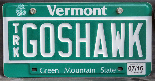 And lastly, here is the vanity plate I got for my truck in August, 2015.